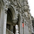 Picture - Architectural detail of the sculptures of City Hall, Brussels.