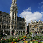 Picture - The face of the City Hall in the Grand Place, Brussels.