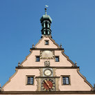 Picture - Top portion of the town hall in Rothenburg ob der Tauber.