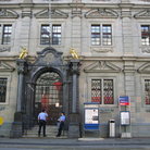 Picture - Main entrance to the Zurich Rathaus, the Town Hall.