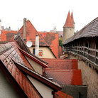 Picture - A portion of the City wall of Rothenburg ob der Tauber.