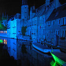 Picture - Light display in the Town Center canal Brugge.