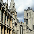 Picture - The powerful architecture of buildings in Ghent.