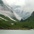 Picture - Cloudy day at Tracy Arm Fjord.