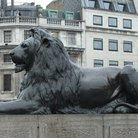 Picture - Massive Lion sculpture located in Trafalgar square, London.
