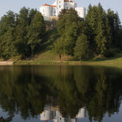 Picture - The white, hill top Trakoscan Castle outside of Zagreb.