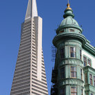 Picture - Transamerica and a flatiron Buildings in San Francisco.