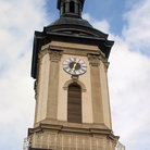 Picture - Church tower in Traunstein.