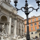 Picture - The Fontana di Trevi, inspired by Roman triumphal arches was designed by Nicola Salvi in 1732 in Rome.