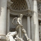 Picture - The statue of Oceanus, the god of the sea of the Trevi Fountain in Rome.