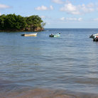 Picture - Fishing boats at Balandra Bay, Trinidad.