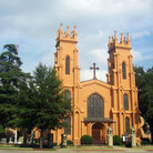 Picture - Front view of the Trinity Cathedral in Columbia.