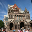 Picture - Trinity Church in downtown Boston, MA.