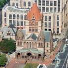 Picture - Areial view of Trinity Church, Boston.