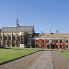Picture - The driveway to Trinity College in Cambridge.