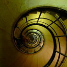 Picture - Spiral stairs at the Arc de Triomphe in Paris.
