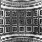 Picture - Looking up from below the Arc de Triomphe in Paris.
