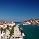 Picture - View over the town and waterfront of Trogir.
