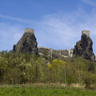 Picture - The dramatic ruins of the Trosky Castle.