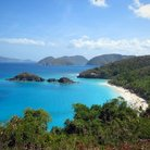 Picture - View over Trunk Bay on St John.