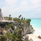 Picture - The Castillo overlooks the white sand beaches that fringe the cliffs around Tulum.