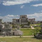 Picture - View over the archeological site of Tulum.