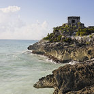 Picture - The ocean front ruins of Tulum.