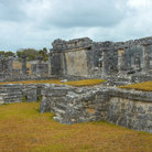 Picture - Mayan ruins within the fortified site of Tulum.