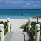 Picture - Stairway to the ocean in Turks and Caicos.