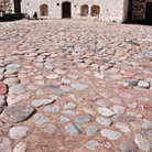 Picture - Stone courtyard of the Turku Castle.