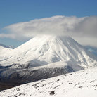 Picture - Mount Ruapehu volcano in the National Park.