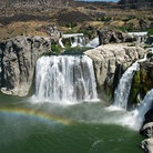 Picture - Aerial view of Shoshone Falls at Twin Falls.