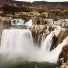 Picture - Water pouring over Shoshone Falls at Twin Falls.