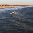 Picture - Waves rolling up on Tybee Island Beach.
