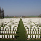 Picture - Gravestones at the Tyne Cot World War I Memorial.