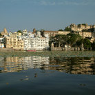 "Picture - Udaipur,the ""white"" city of Rajasthan,stands on the banks of Lake Pichola."
