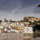 Picture - Homes along the waterfront of Lake Pichola at Udaipur.