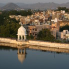 Picture - View over the lake and city of Udaipur.