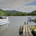Picture - Boats on Ullswater at Glenridding in the Lake District.