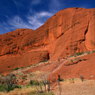 Picture - Red rock of Uluru-Kata Tjuta (Ayers Rock) National Park.