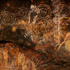 Picture - Aboriginal drawings on Uluru.