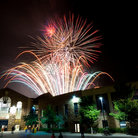 Picture - Fireworks over Folsom Field at the University of Colorado at Boulder.