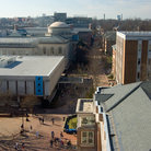Picture - View over the campus of the University of North Carolina in Chapel Hill.