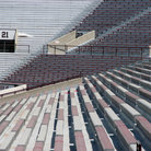 Picture - Bleachers in Memorial Stadium at the University of Oklahoma in Norman.