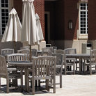 Picture - Outdoor dining area on the campus of the University of Oklahoma.