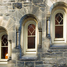 Picture - Uniquely designed windows on a building at the University of Toronto.