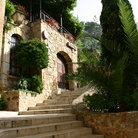 Picture - Stone stairs in Tossa de Mar, Costa Brava.