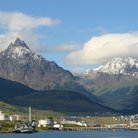 Picture - View over Ushuaia with mountains behind.