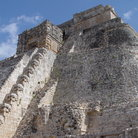 Picture - The massive staircase of the Great Pyramid in Uxmal.
