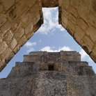 Picture - Looking through an arch in Uxmal.